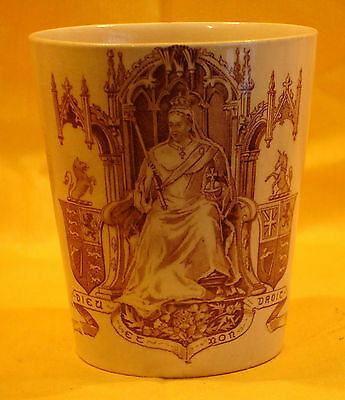 V10 Queen Victoria Beaker on the throne by Doulton