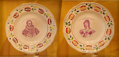 PV01 William IV Queen Adelaide plates VERY RARE PIECES  THE CORONATION IN 1831
