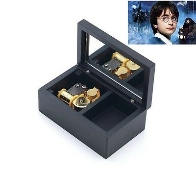 Rectangle in Black Jewelry Music box ♫ Harry Potter Hedwigs Theme ♫