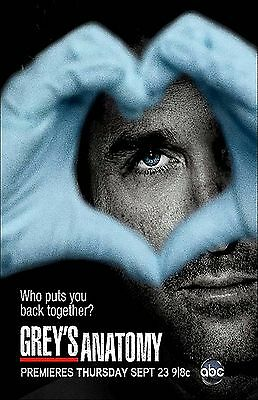 GREY ANATOMY 11x17 mini movie poster collectible HEART