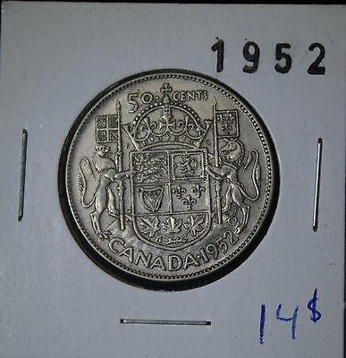 1952 CANADA 50¢ silver fifty half dollard