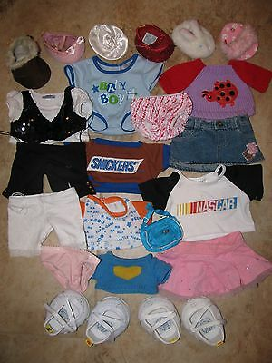 Large Assortment Of Tagged Build A Bear Teddy Bear Clothes & Shoes