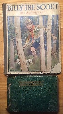 *RARE* BILLY THE SCOUT HIS ADVENTURES 1917 & Vintage Scout photos (1940/50s)