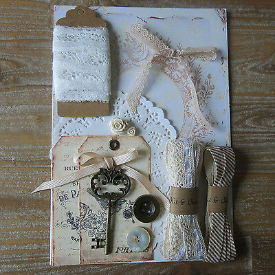 Papercraft pack - shabby chic french vintage style inspiration kit