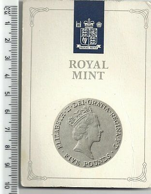 1990 THE QUEEN MOTHER 90TH BIRTHDAY £5 FIVE POUND CROWN ROYAL MINT k107wt2rw