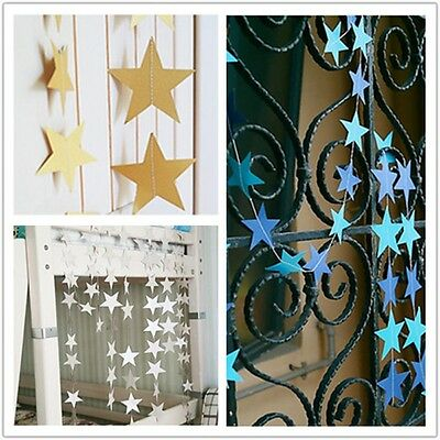 Wedding Home Paper Star Hanging Garlands Bunting Party Decoration Banner