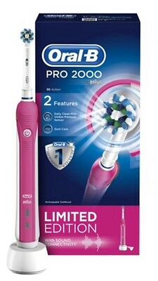 Oral-B Pro 2000 Pink Rechargeable Electric Toothbrush