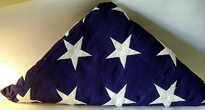 Authentic United States Military Veterans Burial Casket Folded Flag Honor Guard