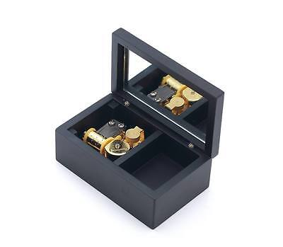 Rectangle in Black Jewelry Music box : Somewhere Over The Rainbow