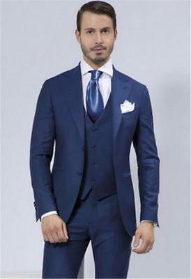 Navy blue Wedding Suits For Men Shawl Lapel Groomsmen Tuxedos Suits Groom Suits