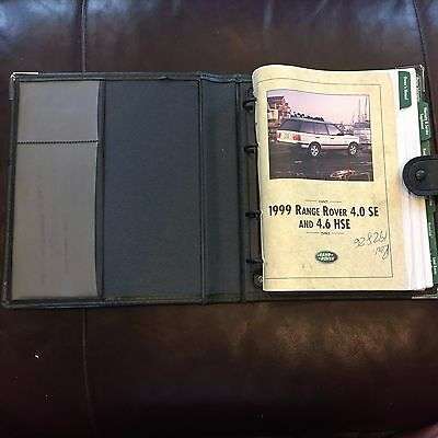 1999 Range Rover Full Size Owners Manual Set With Case Land Rover OEM