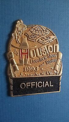 1993 houston livestock show rodeo official badge Astrodome