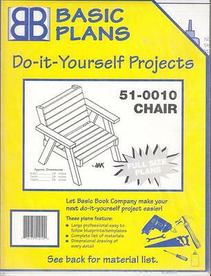 CHAIR WOODWORKING PATTERN by DWK - # 51-0010 - NEW