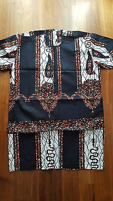 African 100% Cotton Multi Men Top Size M Brand New No Tags