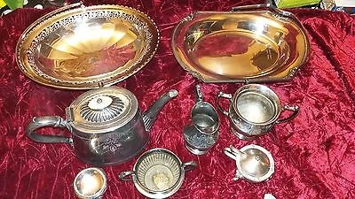 Job Lot Of Vintage Silver Plate  & Pewter