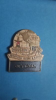 1992 houston livestock show rodeo official badge