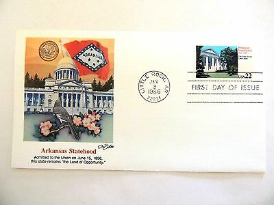 "January 3rd, 1986 ""Arkansas Statehood"" First Day Cover"