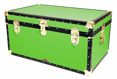 """LIME Traditional British Mossman Made 33"""" Storage Otterman Trunk - Toy Box Chest"""