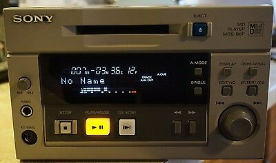Sony MD MiniDisc Player MDS-B6p / RS232 / Remote XLR / digital out