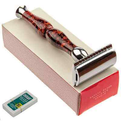 Pro Parker 45R Heavyweight Safety Razor Butterfly Open Double Edge Three Piece