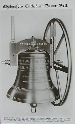 Church Bells - Chelmsford Cathedral Tenor Bell Essex 1914 Rp Pc