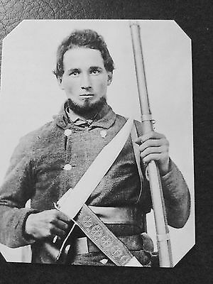 Civil War military doubled armed Soldier  TinType C984NP