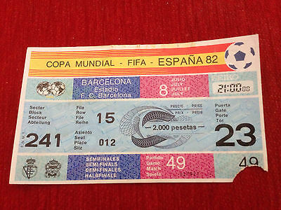 Entrada Ticket World Cup Spain 1982 Wc82 Poland Italy Match 49