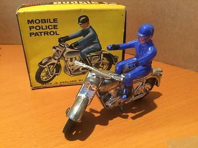 Budgie Diecast Toys 456 Solo Motorcycle Mobile Police Patrol very rare VGCIB
