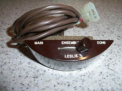 Vintage Leslie engraved style MEE Echo switch, 3 wires, Molex end plug