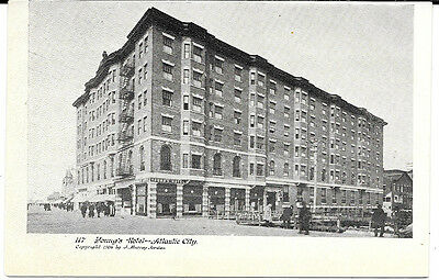 1906 New Jersey Photo Postcard: Street View Of Young's Hotel - Atlantic City, Nj