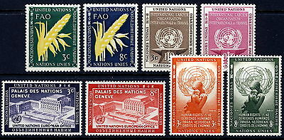 UN - New York . 1954 Complete Year Set (23-30) . Mint Never Hinged
