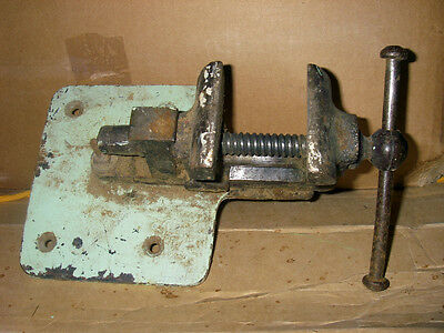 Antique blacksmith watchmaker jeweler bench vise anvil collectible tool
