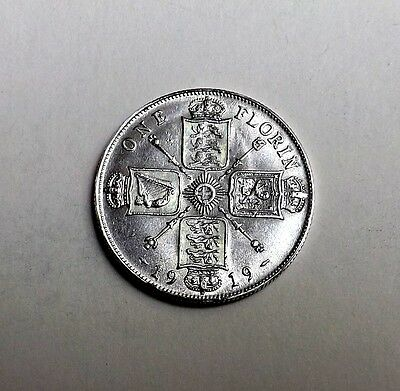 George V 1919 Florin/two-Shilling Very Nice Condition Very Nice Rare Coin