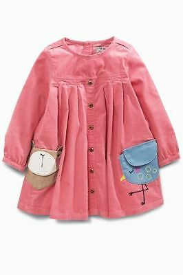 BNWT Next Baby Girls Pink Sweet Pea Character Pocket Dress 6-9 Months