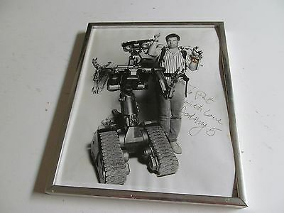 Vintage Signed Black & White Photo Johnny 5 from Short Circuit Movie