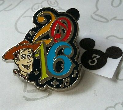 Sheriff Woody Year 2016 Dated Booster Toy Story Music Disney Pin Buy 2 Save $