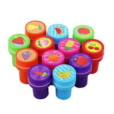 12X Smile Smiley Face Stamps Set Stationery Kids Gift Party Toy Art Craft JS