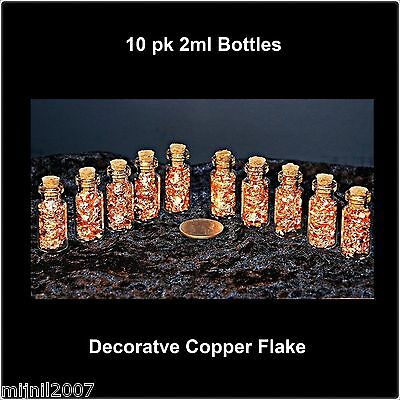 2ml Corked Bottles of Copper Flake - 10 pcs
