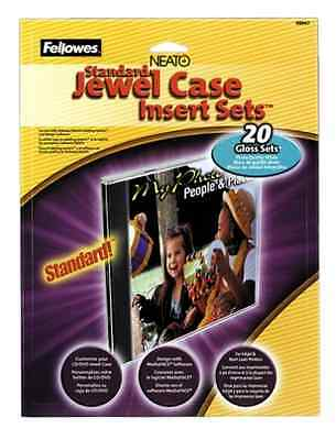 Gloss Jewel Case Inserts 20 Pack Fellowes Neato Standard CD Label New Free Ship