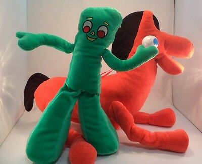 Vintage Plush Gumby & Pokey Stuffed Animal Toy Wires Inside Not for little Kids