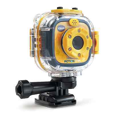 VTech Kidizoom Action Cam, Yellow/Black, Kids Go Pro Style Waterproof Cam