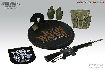 JOHN WAYNE, 1/6 Scale Green Berets, LTd Edition Figure RARE and SOLD OUT, N E W