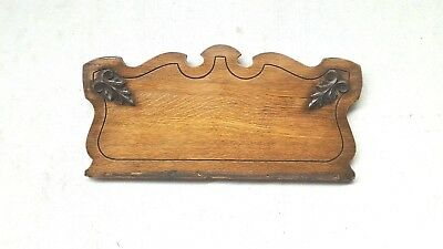 Antique Oak Header Pediment Architectural Accent Piece