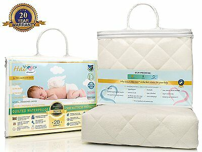 Quilted Bamboo Crib Mattress Pad Waterproof Cover & Toddler Bed Protector