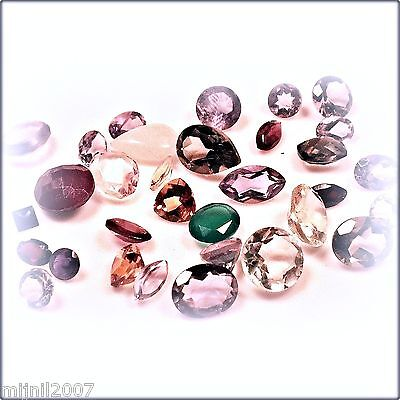 (M_005) ... 48.5 ct. Pudgie 5 ml Bottle 'O Faceted Mixed Gems - Stones to 12 mm!