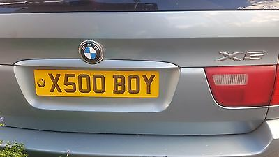 """""""X500 BOY"""" (X5 Boy or Kiss Soo boy) Private number plate for x5 or any car"""