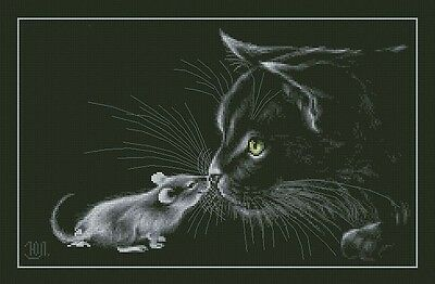 Cat with Mouse - Cross Stitch Chart - Digital Copy