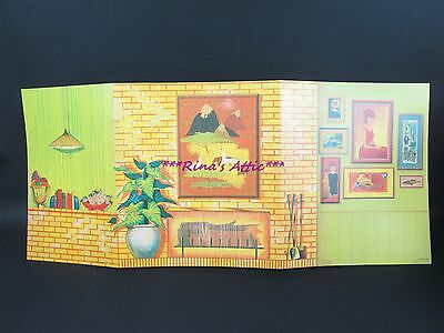 Vintage Barbie Reproduction Go Togethers LIVINGROOM Backdrop Diorama Display