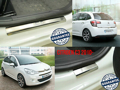 Citroen C3 2010- Stainless Steel Door Sill Entry Guard Covers Trim Protectors