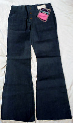 "NWT 60-70s Vtg Womens Wrangler 31 X 31 Blue Denim 11"" Bell Bottom Jean 13 Junior"